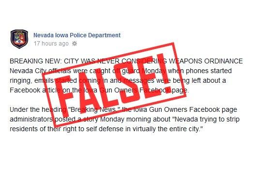 Anti-Gun Nevada Iowa City Officials Try to LIE to Cover Up Their Tracks!