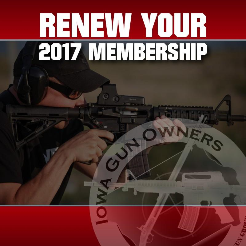 Renew Your Support in the 2nd Amendment for 2017!