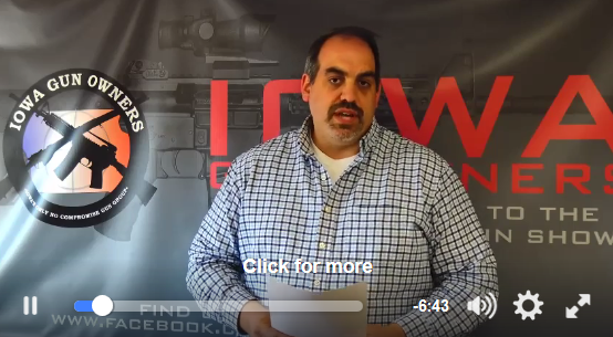 Video Update on the Fight for Stand-Your-Ground Law in Iowa!