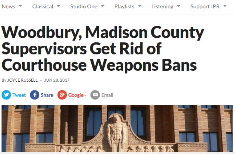 Madison County Joins Woodbury in Lifting Weapons Ban!