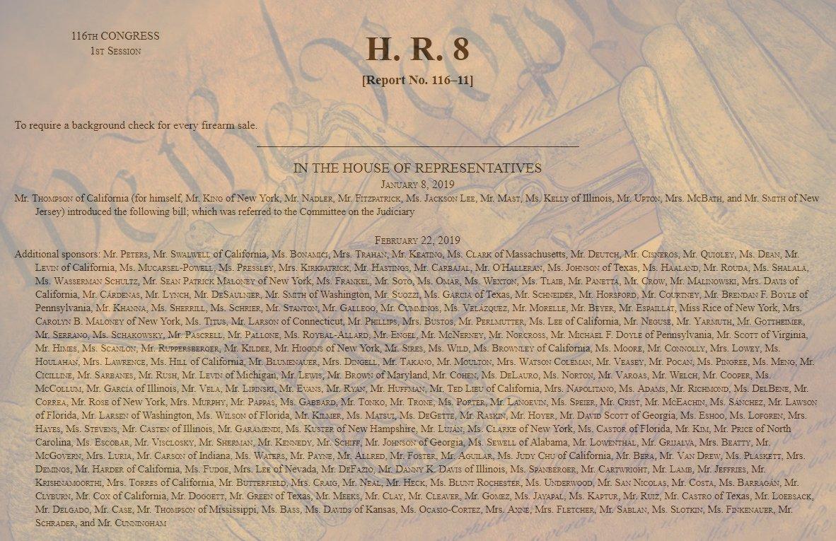 Congress Voting on National Gun Registry This Week!