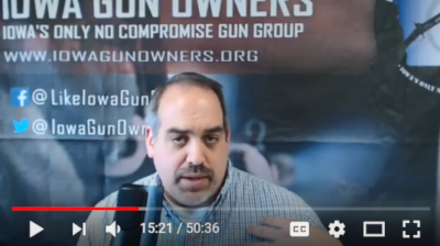 VIDEO of Senator Dawson Lying to Gun Owners!